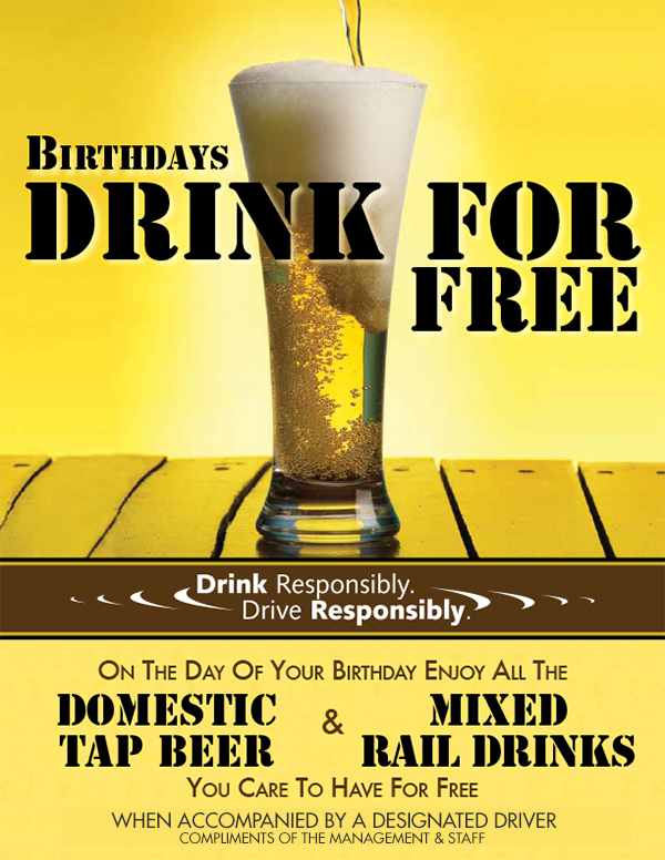 Adult Birthday Drink For Free