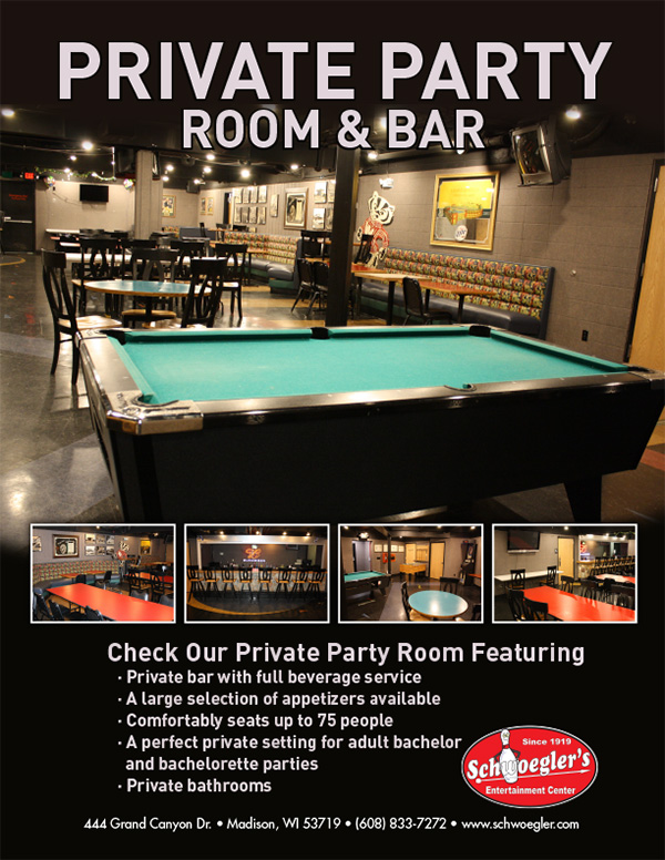 Private Party Room And Bar